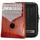 MOOZICA 17 touches Kalimba Piano à pouce, bois de Koa massif professionnel Kalimba Marimba avec finition brillante Instrument de musique cadeau