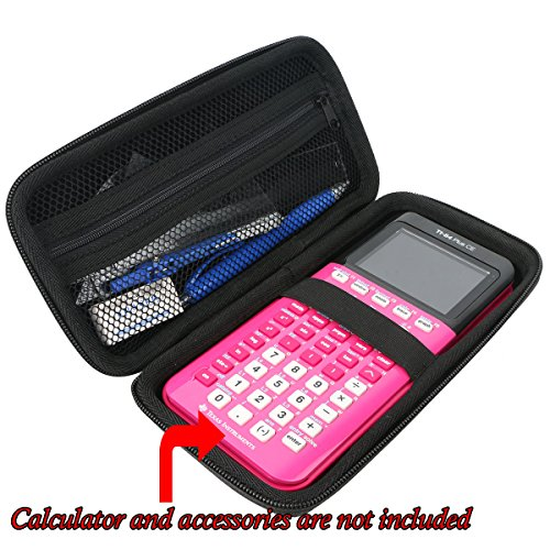 Khanka Hard Travel Case Replacement for Texas Instruments TI-84 Plus CE Graphing Calculator Mesh Pocket for Other Accessories Photo #6