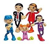 Hape - Puppenfamilie Komplett-Set: Papa, Mutter, Tochter, Mädchen & Sohn und Märchenbüchlein