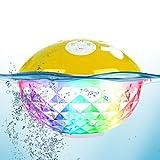 Uekars Altavoz Bluetooth portátil, Altavoz Impermeable IPX7 con luz Colorida, Micrófono Incorporado, Altavoces inalámbricos flotantes para Piscina, Jacuzzi, Fiesta en la Playa, Viajes, Camping.