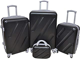New Travel Luggage Trolley Bags for Unisex, 813-4P Black