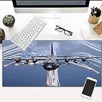 マウスパッド戦闘機拡張ゲーミングマウスパッド特大防水マウスマット、滑り止めベース、PCコンピュータラップトップ800X300Mm