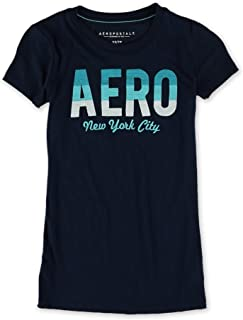 AEROPOSTALE Womens Crochet NYC Embellished T-Shirt