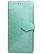 Oihxse Funda con ASUS ZenFone 6/zs630KL, Cuero PU Billetera Cierre Magnético Flip Libro Folio Tapa Carcasa Relieve Soporte Plegable Ranuras para Tarjetas Protección Caso(Verde)