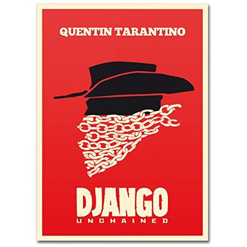 LaMAGLIERIA Hochqualitatives Poster - Django Unchained - Posterdruck glänzend laminiert im Großformat, 50cmx70cm
