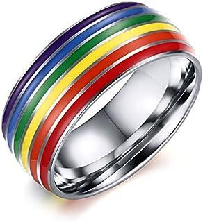 Knitpro 10435 20,6 mm arcobaleno Anello in acciaio INOX