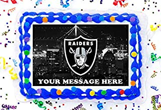 Oakland Raiders Cake Topper Edible Image Personalized Cupcakes Frosting Sugar Sheet (8