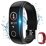 Fitness Tracker with Body Temperature Watch,Smart Watch with Blood Pressure Monitor Heart Rate Monitor Step Calorie Counter Sleep Monitor,Activity Tracker Pedometer for Kids Men Women