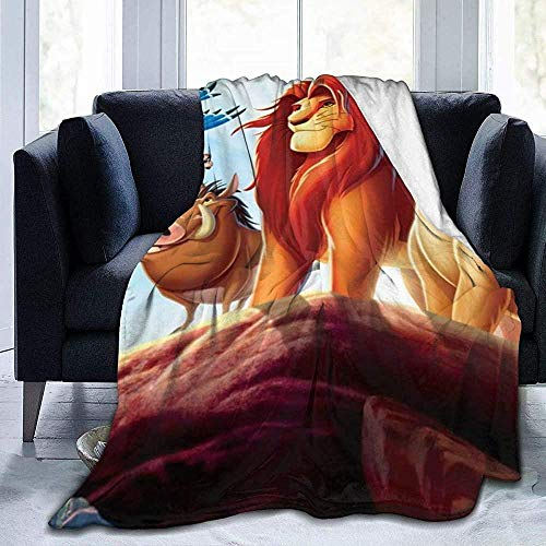 XZHYMJ Fleece Blanket The Lion King Simba Blanket Warm, super soft adult blanket with soft anti-pilling flannel for adults Kids - 50 x 40 inches