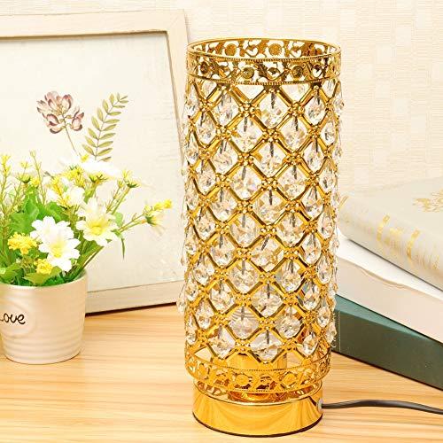 Pelight Tafellamp van glas, modern bedlampje van glas, bureaulamp ter decoratie van het huis, led, voor woonkamer, eetkamer, keuken, slaapkamer
