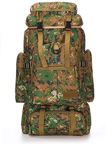 tgbnh Zaino, Zaino Alpinismo Zaino tattico Militare Marcia Borsa da Campeggio all'aperto Camping Bagaglio Borsa da Trekking Pole Tenda (Color : Camouflage 01)