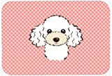Caroline's Treasures Checkerboard Pink White Poodle Mouse Pad/Hot Pad/Trivet (BB1257MP)