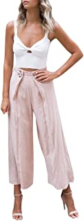 Vintage Ripped Womens High Waisted Trousers Shorts Solid Loose Wide Leg Hot Pant