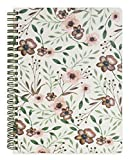 Steel Mill & Co Cute Mini Spiral Notebook, 8.25' x 6.25' Journal with Durable Hardcover and 160 Lined Pages, Woodland Floral