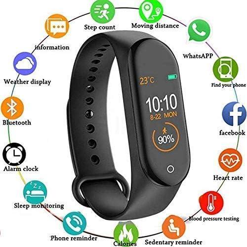 SBA VA 250807 M4 Smart Health Band Immunity Tracker Digital Sports Pedometer Watch With Activity Tracker Sweat Proof Resistance Step Counter B P Heart Rate Sleep Monitor