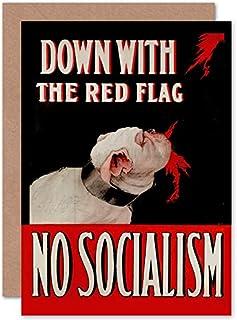 Fine Art Prints Anti socialism affisch hund gratulationskort med kuvert inuti premiumkvalitet