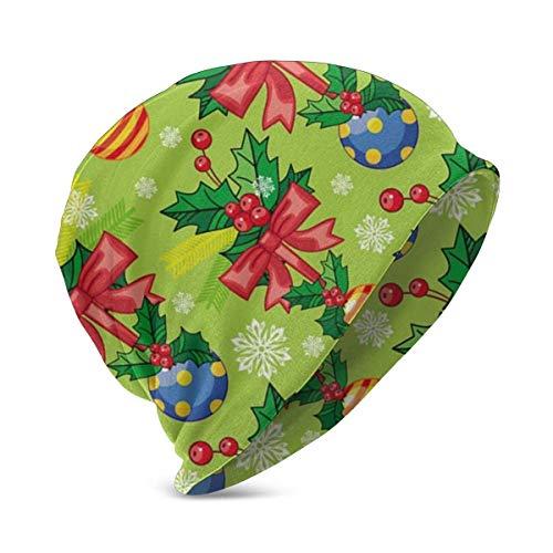 Generic Warme Weihnachten Schneeflocke blau Beanie Strickmütze, Boys Girls Slouchy Skull Cap