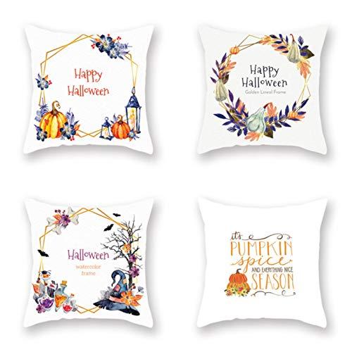 4 fundas de almohada decorativas para decoración del hogar para sofá cama, sala de estar, 45 x 45 cm