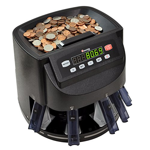Cassida C200 Coin Counter, Sorter and Wrapper | Counts, Sorts and Rolls 1¢,...