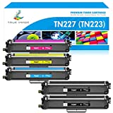 TRUE IMAGE Compatible Toner Cartridge Replacement for Brother TN227 TN-227 TN-227BK TN223 TN-223 for HL-L3210CW HL-L3290CDW MFC-L3750CDW MFC-L3710CW HL-L3230CDW L3270CDW MFC-L3770CDW Printer (5-Pack)