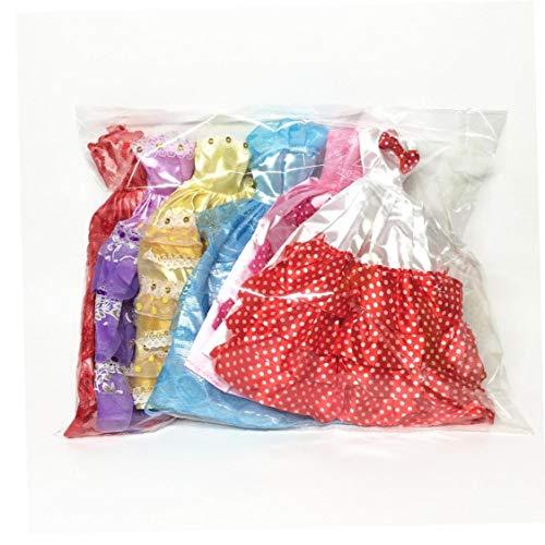 NaiCasy 5 PCS Hecho a Mano de la Novedad Banquete de Boda de los Vestidos de los Vestidos de Ropa para la muñeca (Color al Azar/Estilo)
