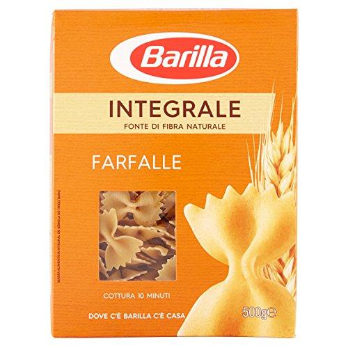 Barilla Pasta Integrale Farfalle Semola Integrale di Grano Duro, 500 gr