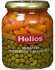 Helios Guisantes Extrafinos y Zanahorias - 340 gr - , Pack de 6