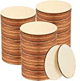 100 PCS 4 Inch Wood Circles, Small Unfinished Wooden Circles, Blank Natural Round Wood Slices for Crafts, Painting, Writing, School Project, DIY Supplies, Home Decoration
