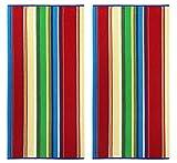 COTTON CRAFT - Terry Beach Towel 30x60-2 Pack - Springfield Multi...