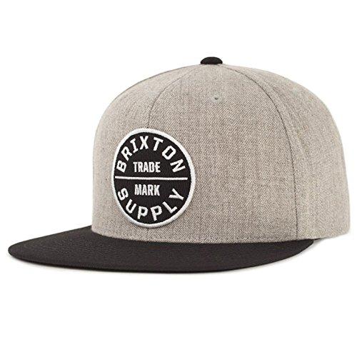 (ブリクストン) BRIXTON OATH 3 SNAPBACK CAP (FREE SIZE, HEATHER GREY/BLACK)