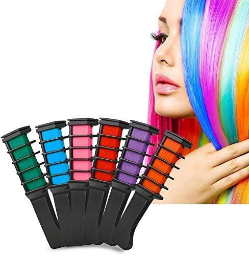 Bubuxy - Tiza para el pelo, color temporal, lavable, para teñir el cabello, el mejor regalo para mujeres, niños, para teñir el cabello, fiesta, Navidad y cosplay DIY