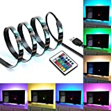 IREGRO Tiras LED Iluminación 2M 60LED para 40'-60' TV USB Powered LED Tira de TV, Tira Ligera del Cambiante RGB 16 Colores con...