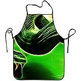 Myrdora Animal Green Snake Deluxe Delantales Delantal de Cocina de impresión Personalizada