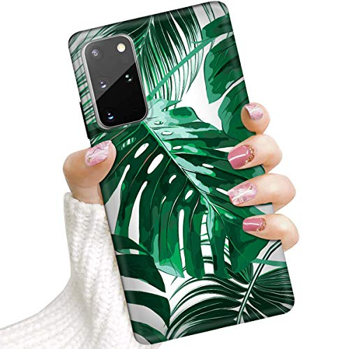 for Samsung S20+, Galaxy S20 Plus, Protective Art Design Soft Back Case Phone Cover, IMD IMD0101 Banana Leaf Tropical Palm 0101