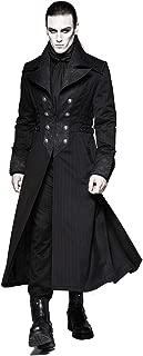Punk Rave Men's Black Gothic Gentleman Steampunk Arctic Wolf Collar Long Coat