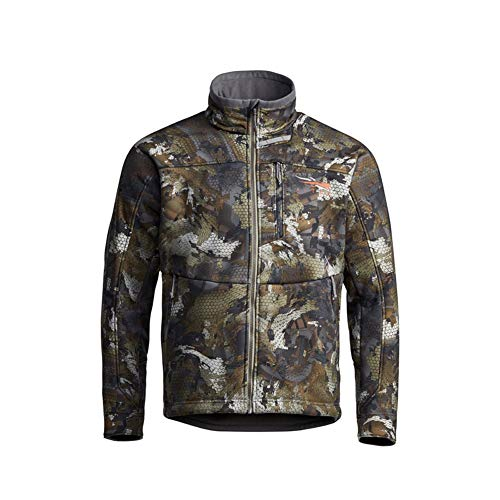SITKA Gear Men's Dakota Windstopper Water Repellent Breathable Camo Hunting Jacket, Waterfowl Timber, X-Large