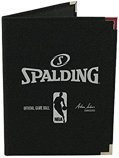 Spalding 8.5-Inch x 11-Inch NBA Padfolio Notebook Orange