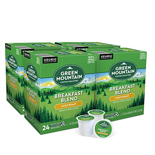Green Mountain Coffee Roasters Breakfast Blend SingleServe Keurig KCup Pods Light Roast Coffee 24countPack of 4
