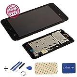 Lobishop Original Bloc Complet Vitre Tactile et Ecran LCD pré-monté sur châssis pour Wiko Sunny 2 Plus (5') + Outils + Screen...