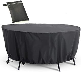 Cubierta de Muebles de Jardín Funda Protectora para Muebles Impermeable Anti-UV Oxford Protección Exterior Muebles de Jardín Sofá, Mesa, Silla Negro,128 x 71 cm