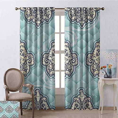 Wild One Curtain Verschleißfeste Vorhang Rokoko-Stil Design Fliesen Stilvolle Romantische...