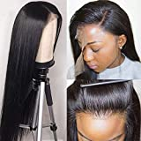 Grace Plus Hair Lace Front Wigs Human Hair For Black Women With Baby Hair 13×4 Straight Human Hair Wigs 150% Density Brazilian Lace Front Wigs (24inches, 150% Density)