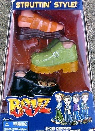 Bratz Boyz Struttin' Style schuhe Set-schwarz w Leopard Print, Grün Stiefel, braun Sandal by Bratz
