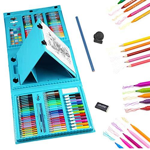 Art Sets Case 208-Piece,Kids Art Supplies,Art Kit for Kids 3-12