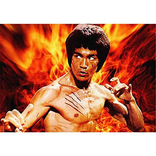 Vitila Wandaufkleber Moderne Minimalistische Dekoration Schlafzimmer Badezimmer Kinderzimmer Wandbilder Kreative Persönlichkeit Aufkleber Kung Fu Bruce Lee Selbstklebende Poster Pvc