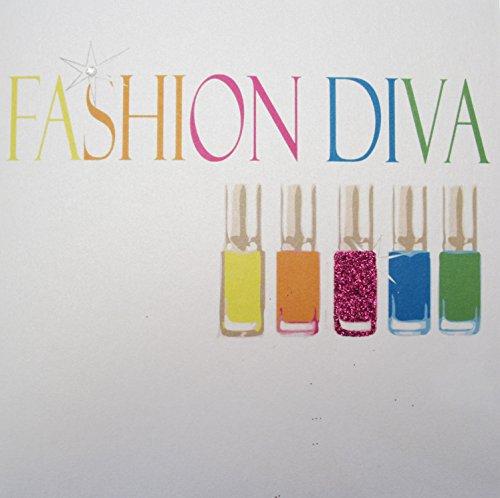 WHITE COTTON CARDS Neon Nagellack-Diva Fashion'Handmade Neon Geburtstagskarte