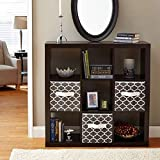 Better Homes and Gardens.. Bookshelf Square Storage Cabinet 4-Cube Organizer (Weathered) (White, 4-Cube) (Espresso, 9-Cube)