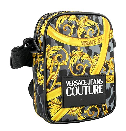 Versace Jeans Couture herren logo baroque Umhängetasche grigio