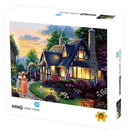 Herize Puzzle 500 Pezzi per Adulti - Jigsaw Paesaggio del Europeo Giardino - Puzzle per Bambini Intellettuale Educativo Giochiper Brain Challenge - Regalo Decorazione della Casa di Natale 50X40 CM