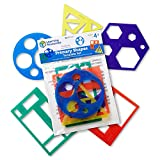 Learning Resources- Set de Plantillas con Formas geométricas de Primaria (LER5440)